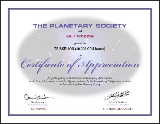 seti@home certificate Triskelion